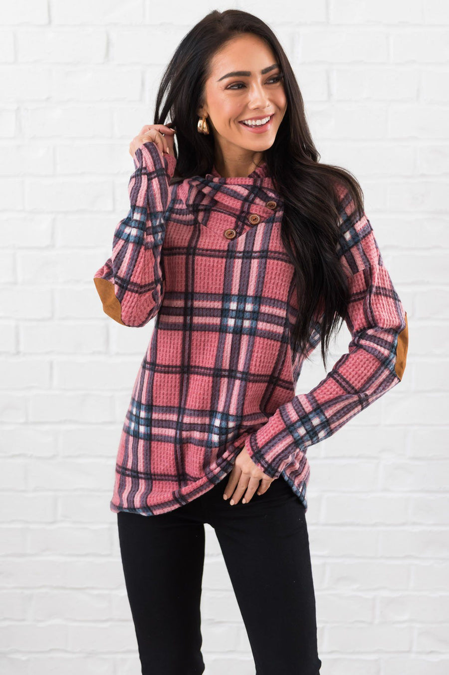 Beautiful In Plaid Modest Top