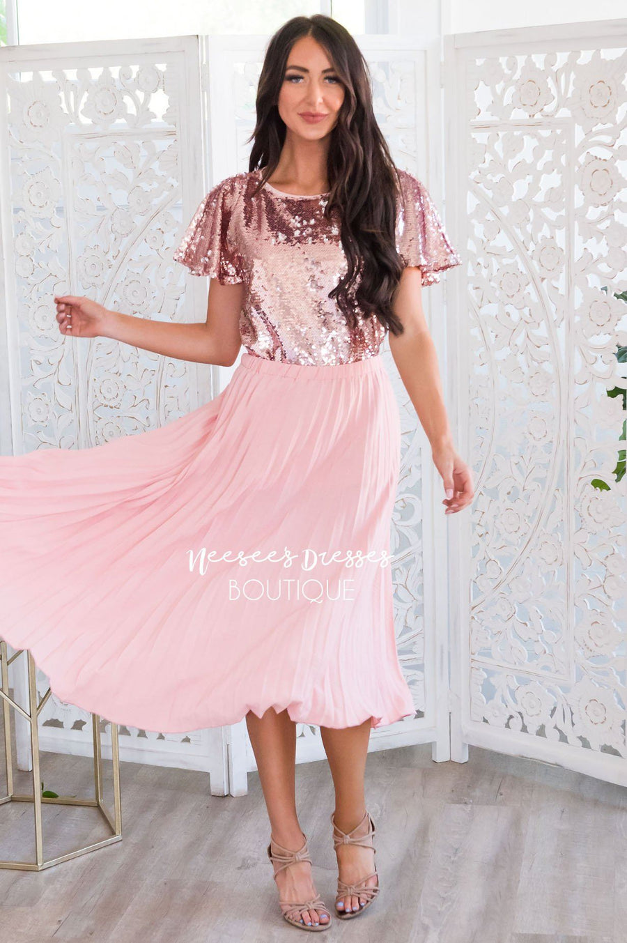 What A Darling Modest Pleat Skirt