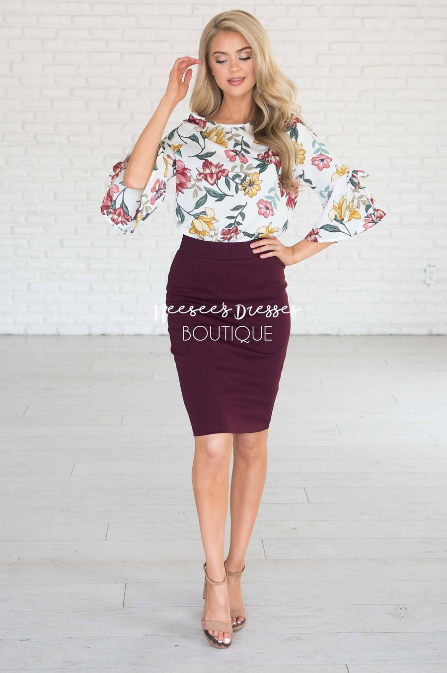 Perfect Fit Raisin Pencil Skirt