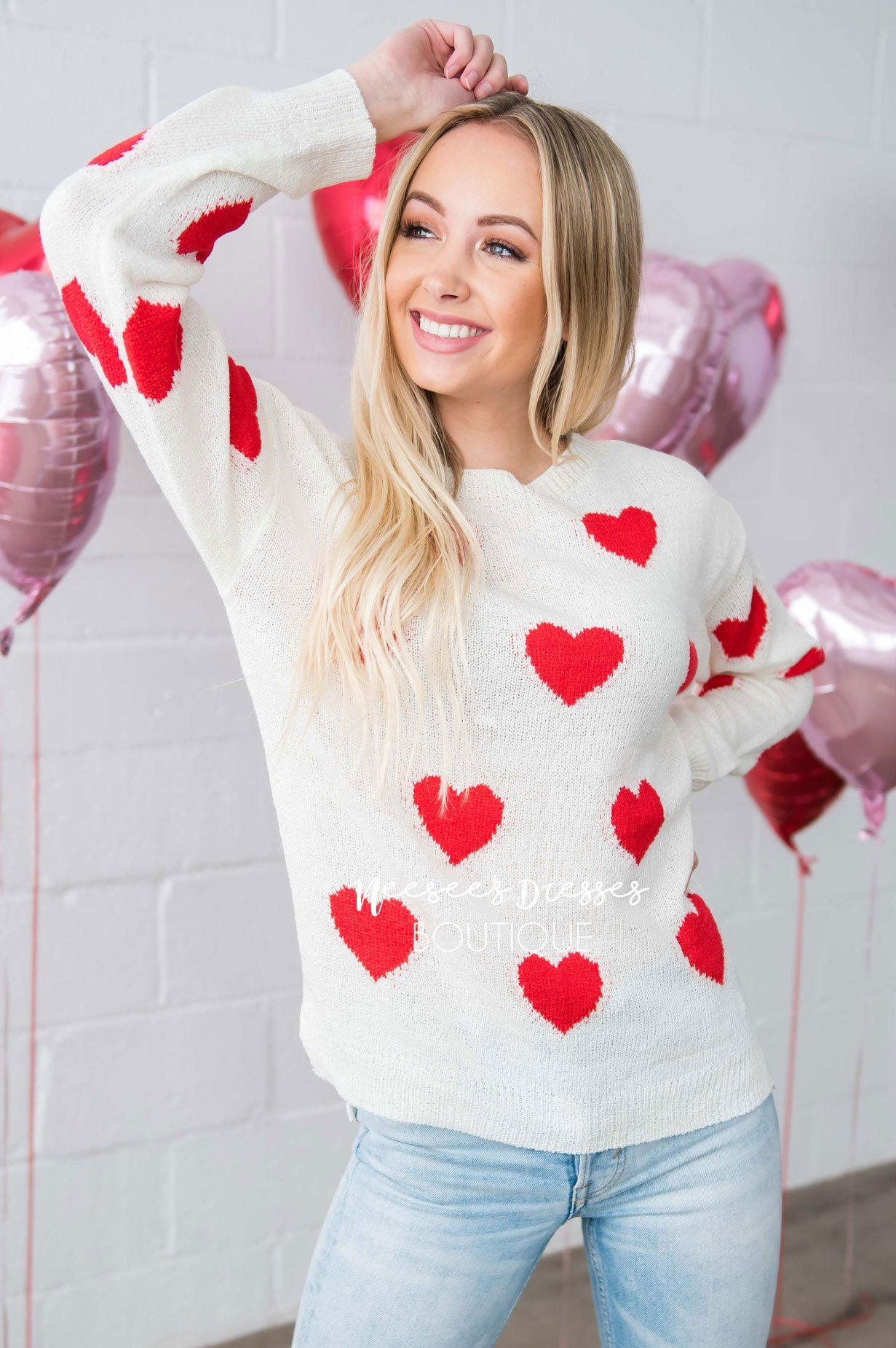 Sprinkled with Hearts Sweater