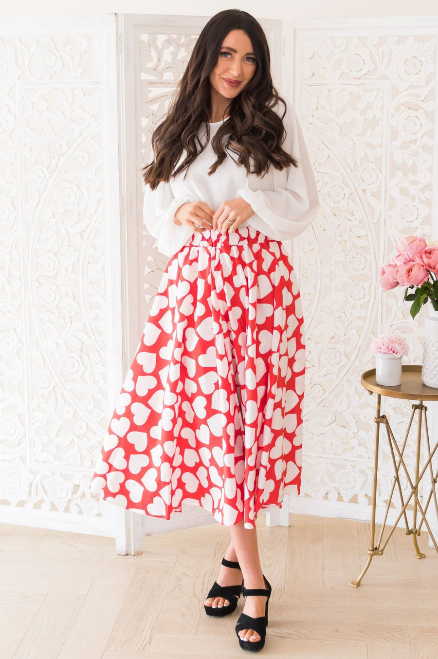 Be My Valentine Modest Skirt