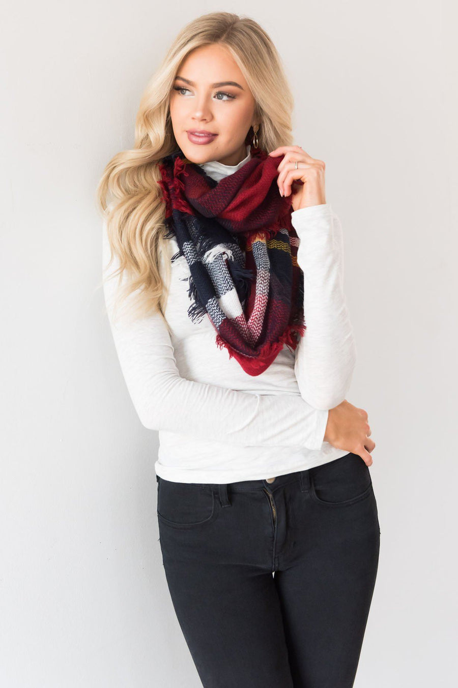 Cozy Up With You Plaid Scarf