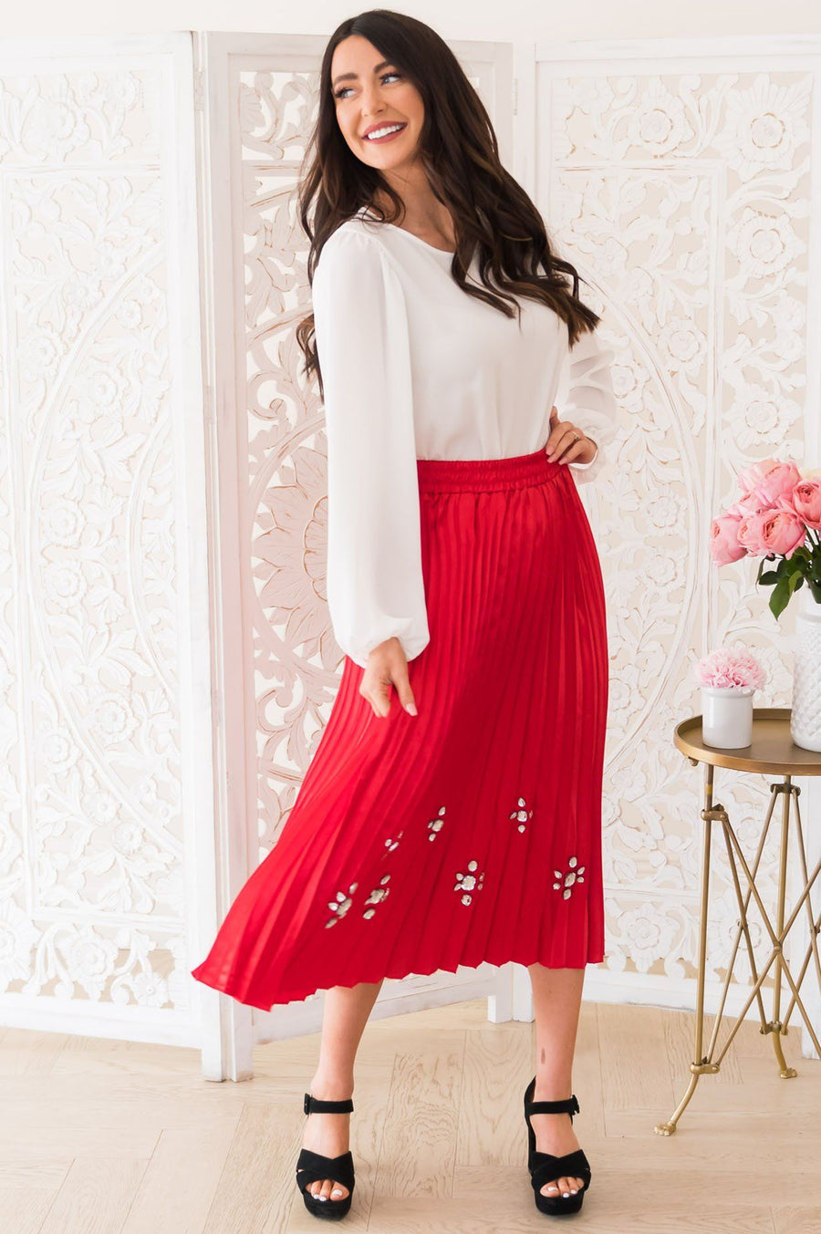 Glamour Girl Modest Pleat Skirt