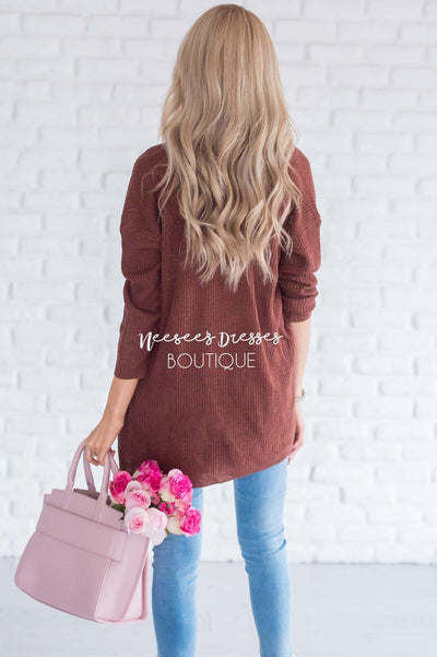 Knit Boyfriend Cardigan Tops vendor-unknown