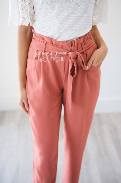 Paper Bag High Waisted Ruffle Pants