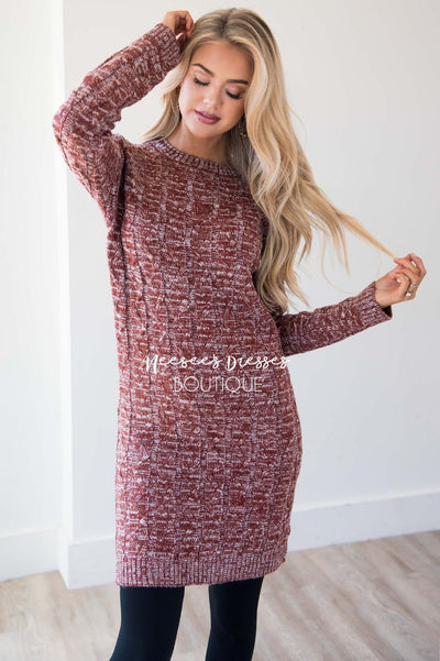 The Anistin Sweater Dress Modest Dresses vendor-unknown
