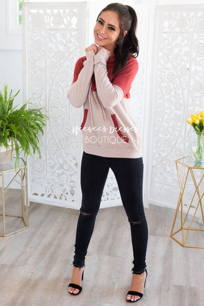 Adventure Awaits Thermal Hoodie Modest Dresses vendor-unknown