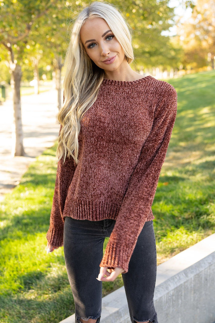 Fall Beauty Modest Chenille Sweater