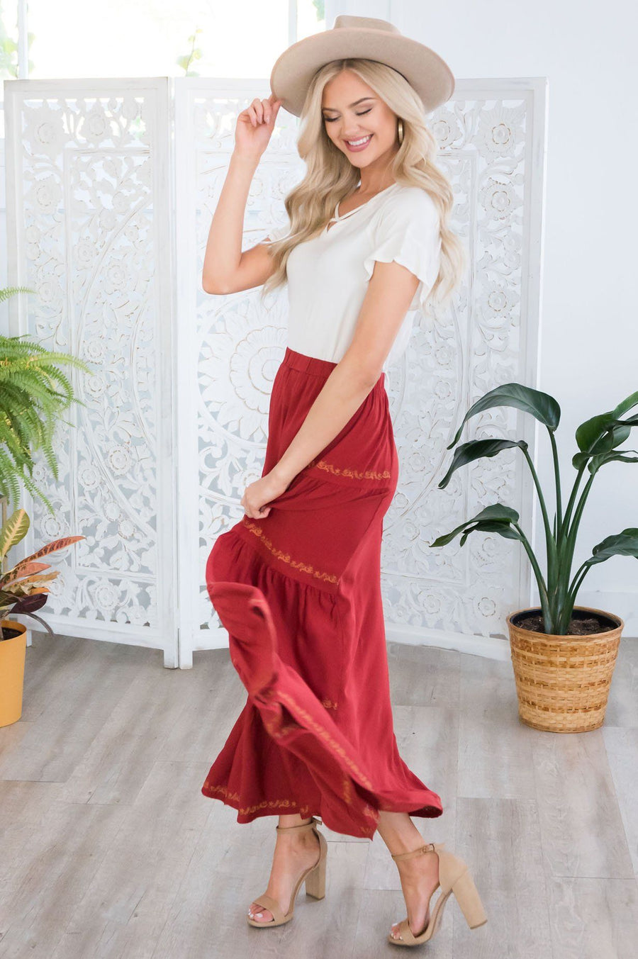 Perfect Day Modest Maxi Skirt