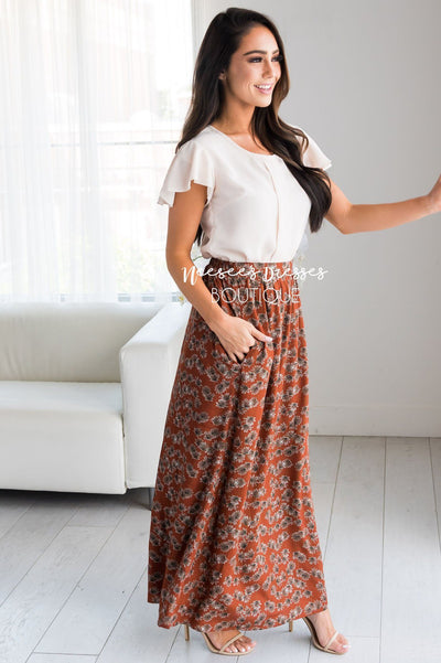 Bring The Fun Paisley Maxi Skirt Modest Dresses vendor-unknown
