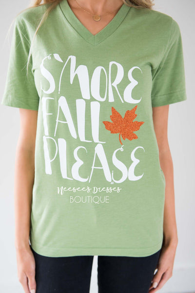 S'More Fall Please Graphic Tee Tops vendor-unknown