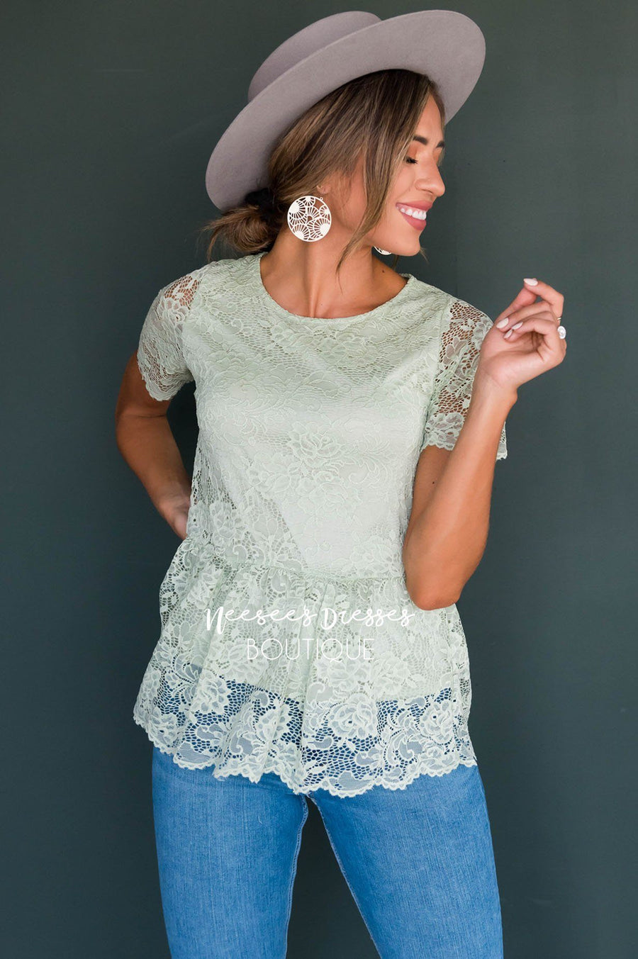 Better Days Ahead Modest Lace Top