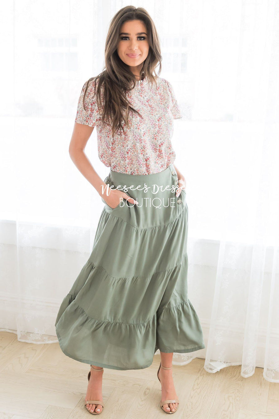 Just A Moment Modest Skirt