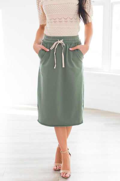 New Day Modest Tie Waist Skirt Modest Dresses vendor-unknown