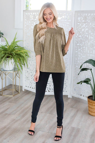 It's The Simple Things Modest Blouse Tops vendor-unknown