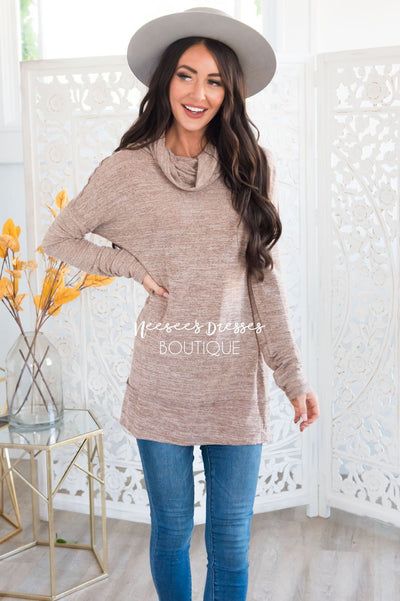 Sheer Modest Cowl Neck Tunic Modest Dresses vendor-unknown