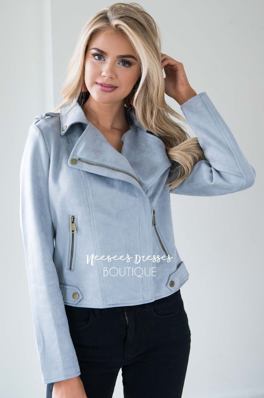 City Moto Faux Suede Jacket