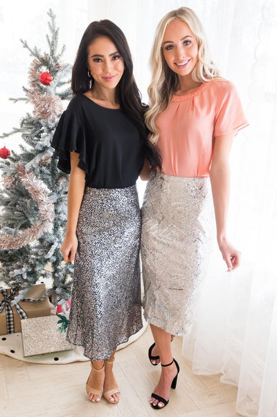 Be A Shining Star Modest Sequin Skirt Modest Dresses vendor-unknown