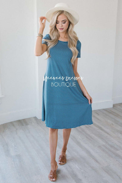 The Sara Swing Dress Modest Dresses vendor-unknown