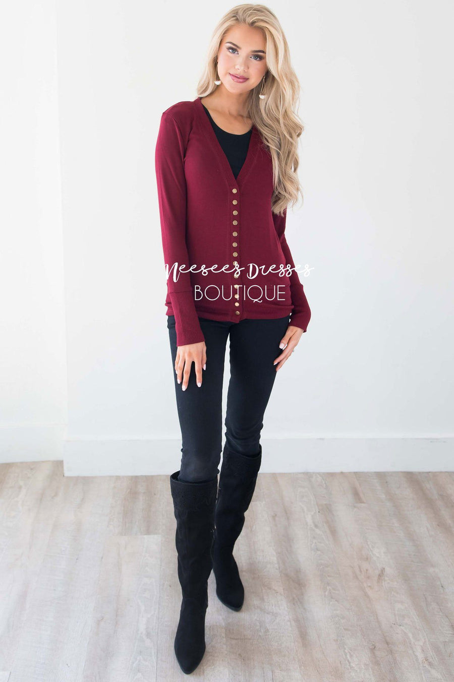 Snap Up Button Cardigan