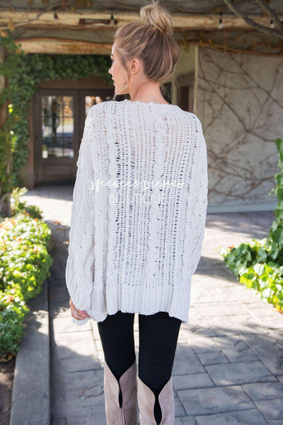 Snowy Days Cardigan Sweater Tops vendor-unknown