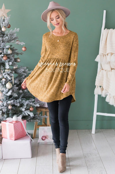 Soft Babydoll Sweater Modest Dresses vendor-unknown