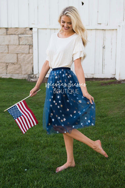 FREE Sequin Star Tulle Skirt Skirts vendor-unknown