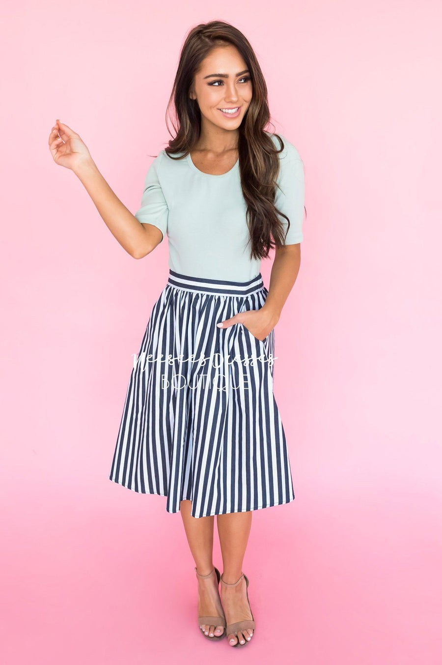 Plan On This Love Striped Skirt