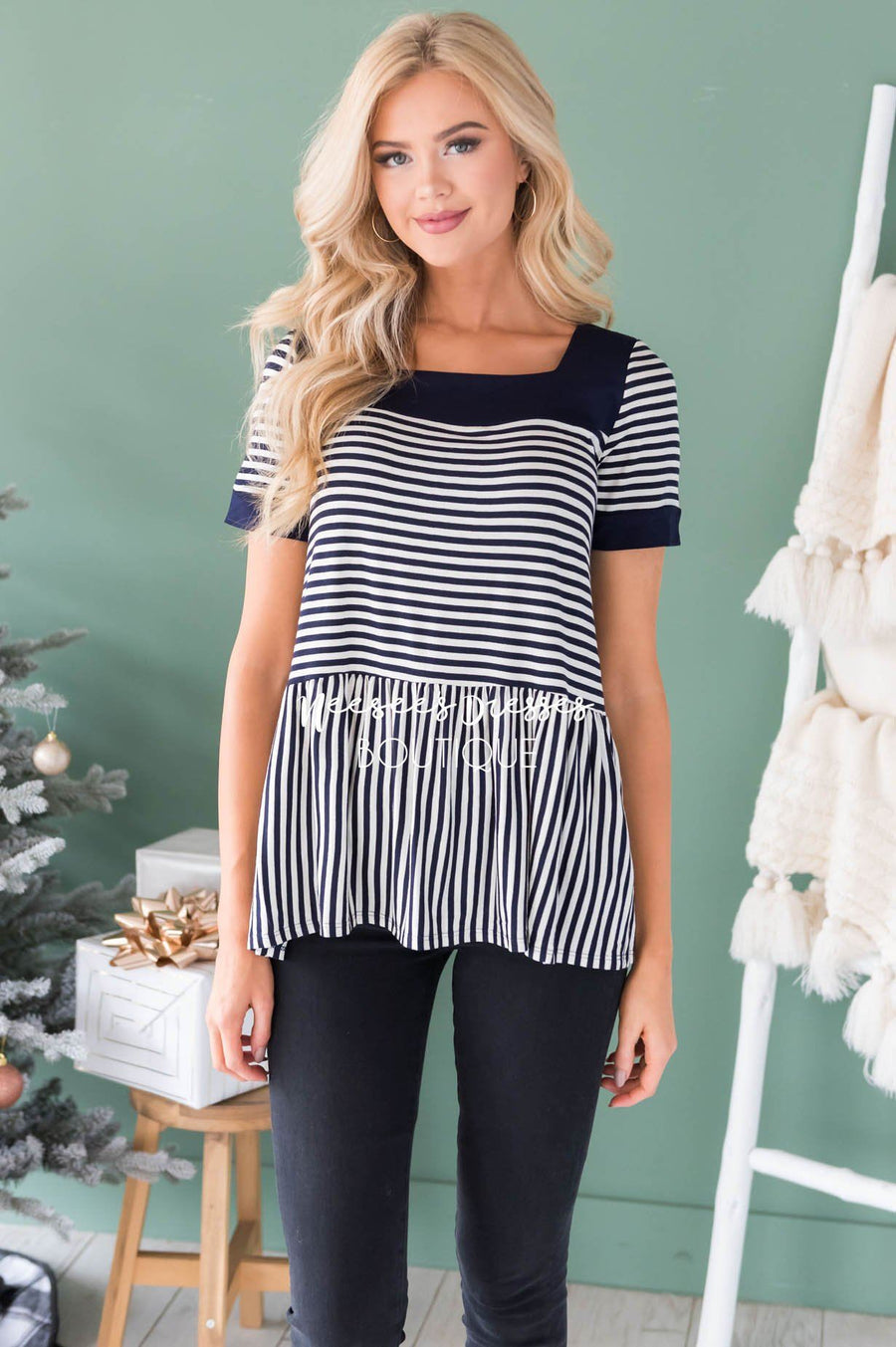 Always Smiling Peplum Blouse