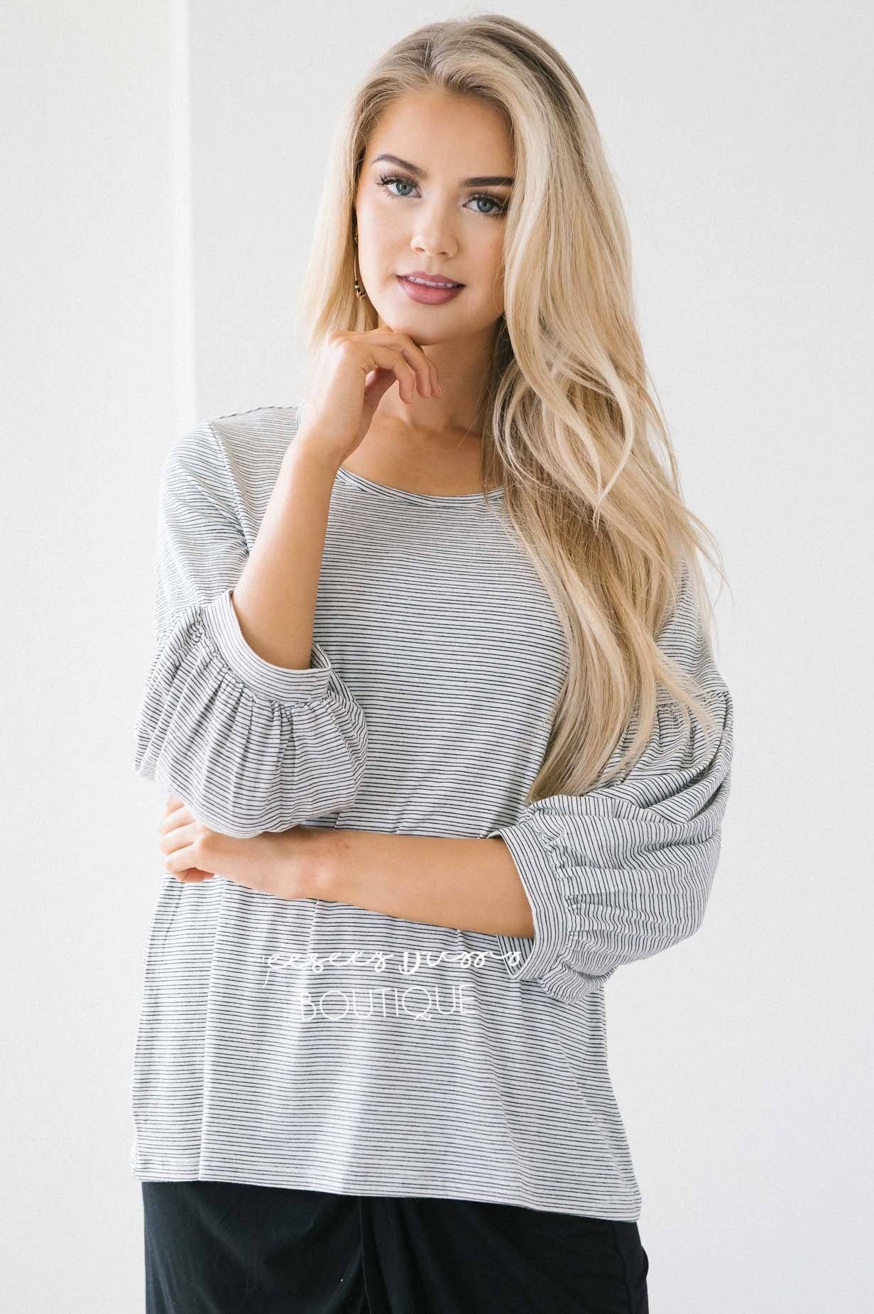 3a88d8f4909 The Lindsay Bubble Sleeve Sweater Tops vendor-unknown