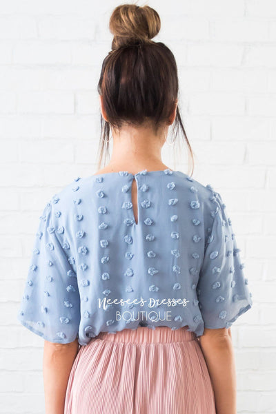 Stunning Swiss Dot Modest Blouse Tops vendor-unknown