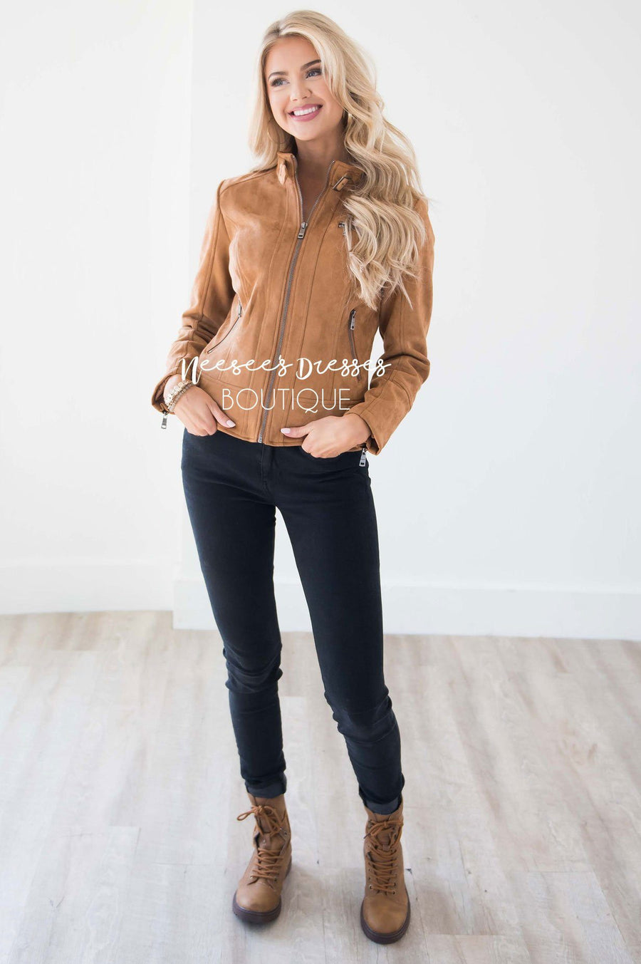 Weekend Moto Faux Suede Jacket