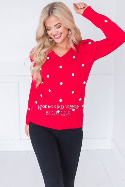 Sweetheart Sweater Modest Dresses vendor-unknown