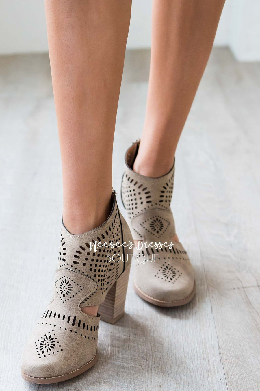 Hole In One Cutout Booties