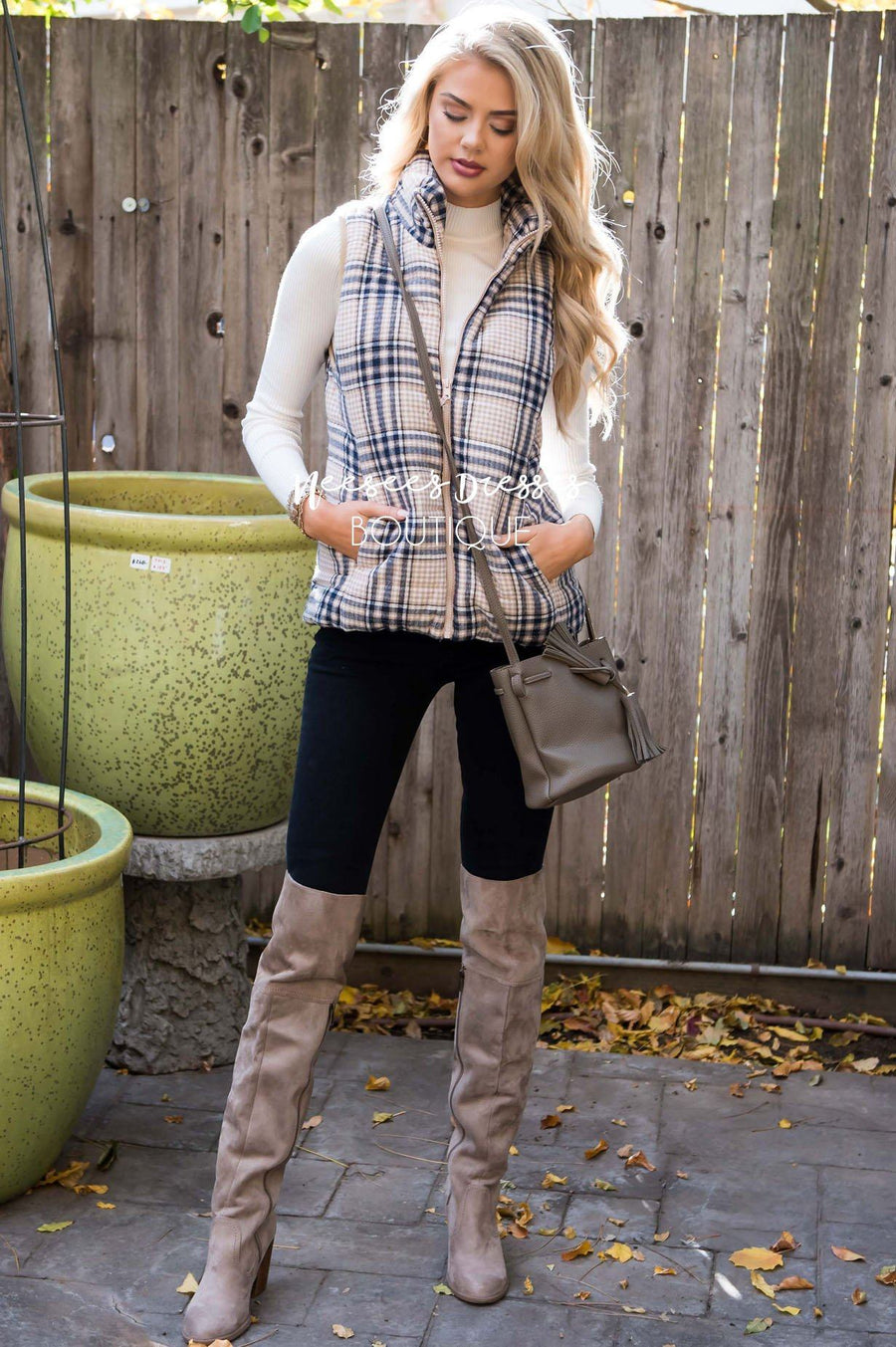 Winter Wishes Plaid Vest