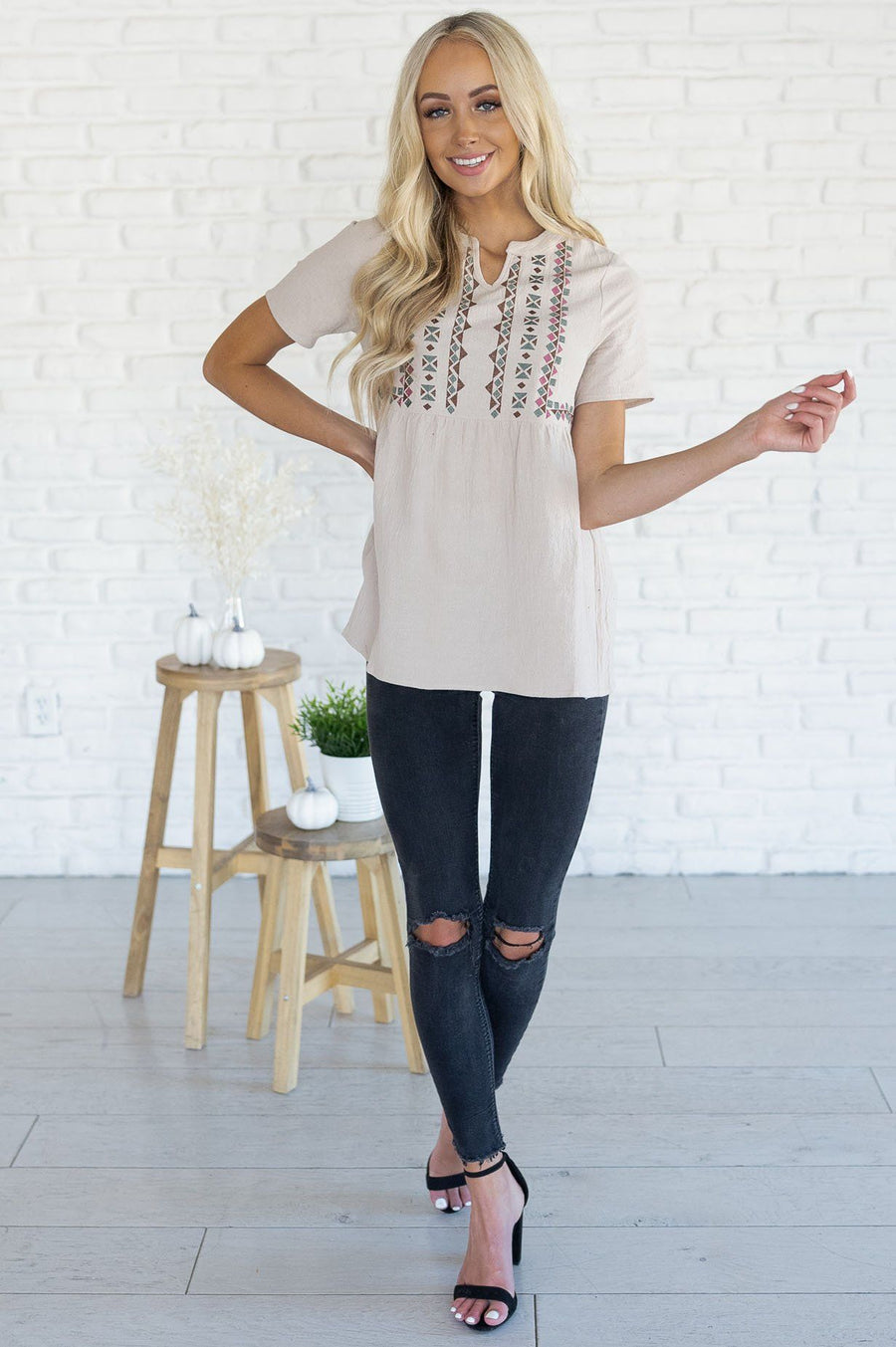 Perfect Getaway Modest Blouse