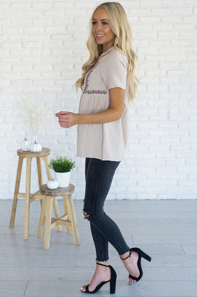 Perfect Getaway Modest Blouse Tops vendor-unknown