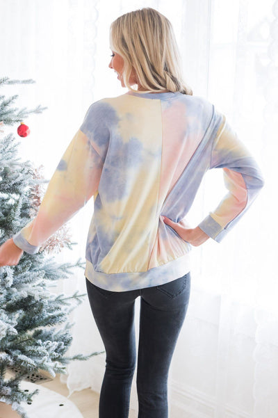 Find Your Cheer Modest Tie Dye Top Tops vendor-unknown