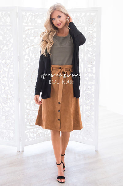 Trip to Tribeca Button Skirt Modest Dresses vendor-unknown