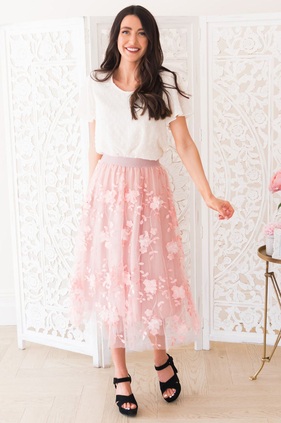Fairytale Dreams Modest Tulle Skirt