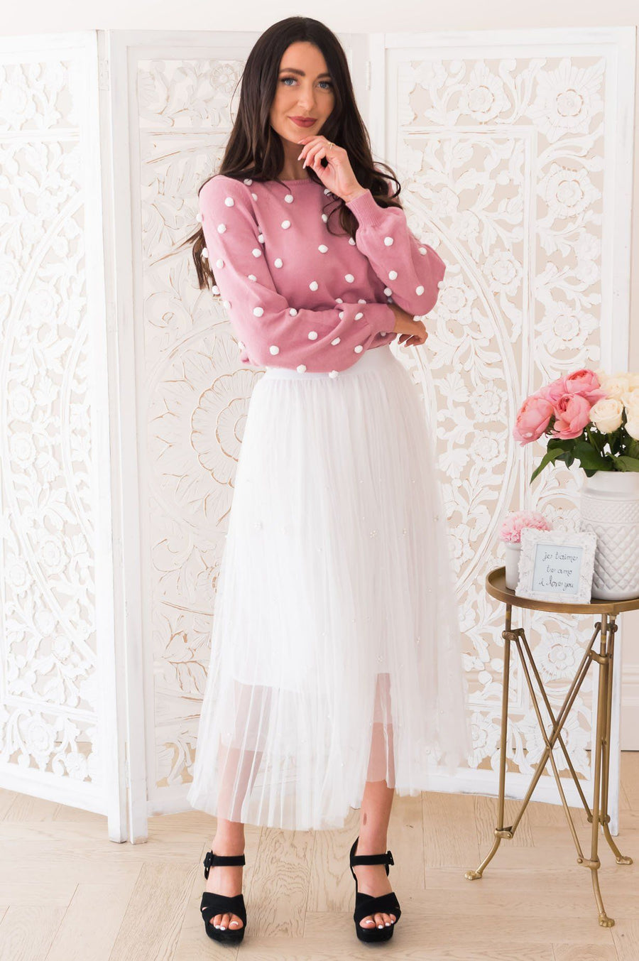 Simply Dazzling Modest Tulle Skirt