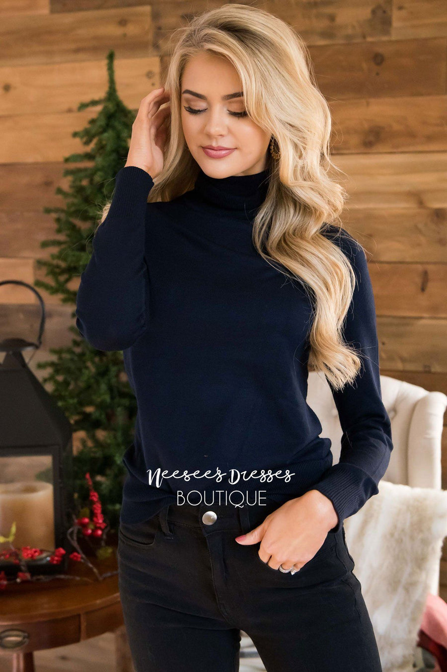 Turtleneck Sweater Tops vendor-unknown