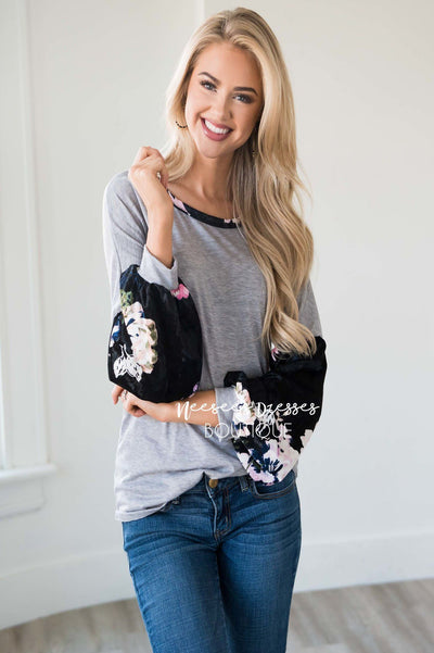 Playful Personality Velvet Sleeve Sweater Tops vendor-unknown