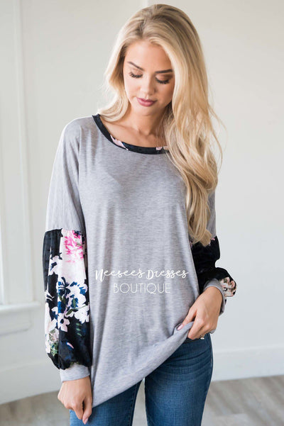 Playful Personality Velvet Sleeve Sweater
