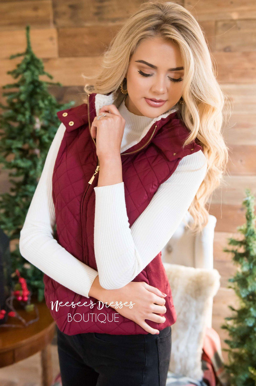 Fur Lined Quilted Vest