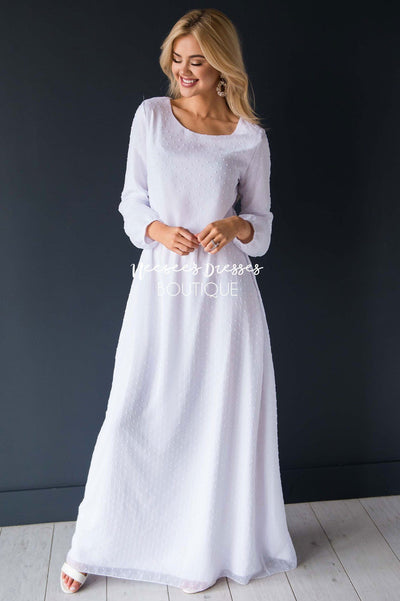 The Wynter Swiss Dot Dress Modest Dresses vendor-unknown