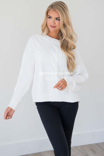 Snowy Nights Chunky Knit Sweater Tops vendor-unknown