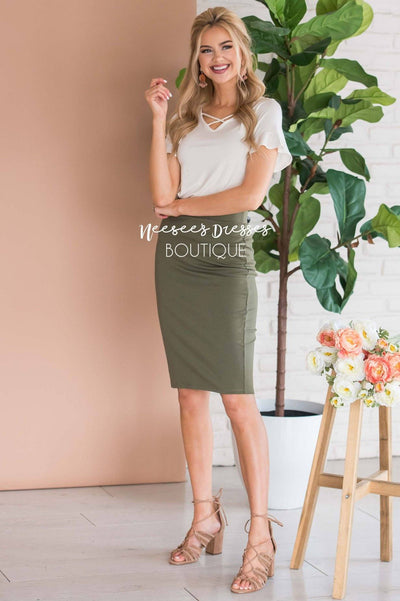 Perfect Fit Pencil Skirt Skirts vendor-unknown