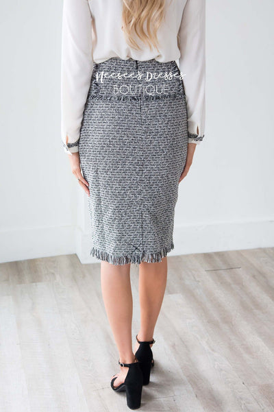 Tweed Patch Pocket Skirt