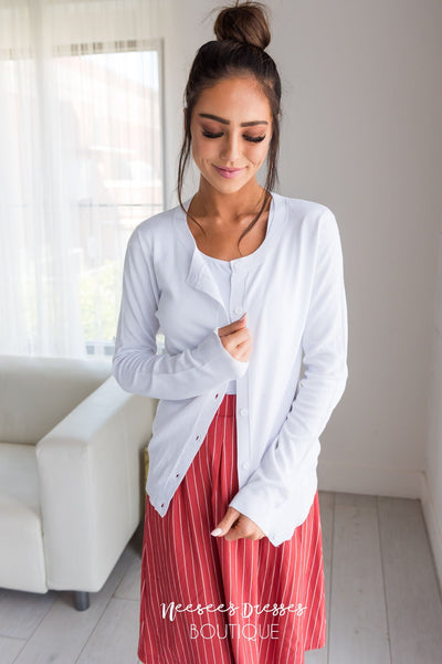 The Go To Modest Cardigan Tops vendor-unknown